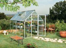 polykarbonátový skleník Palram hybrid 6x8 + ZDARMA základna skleníku + ZDARMA strunová sekačka Fieldmann FZS 2000-E + hnojivo Biocin + prodloužená ZÁRUKA 10 LET