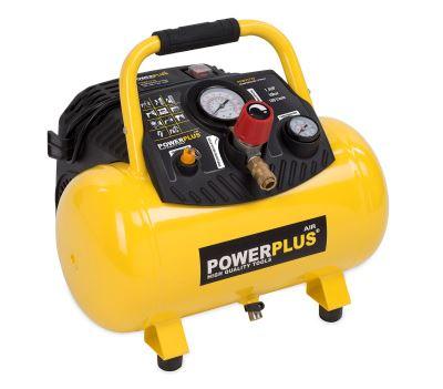 POWERPLUS POWX1723 bezolejový kompresor 12l - záruka 36 měsíců + ZDARMA scheppach 6-ti dílná sada ke kompresoru 0211983