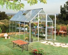 polykarbonátový skleník Palram hybrid 6x10 + ZDARMA základna skleníku + ZDARMA strunová sekačka Fieldmann FZS 2000-E + prodloužená ZÁRUKA 10 LET