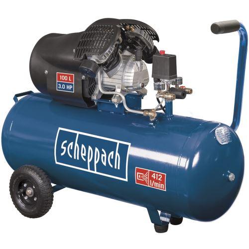 olejový dvouválcový kompresor 10 bar se vzdušníkem 100 l Scheppach HC 120 dc + 4 roky záruky, viz popis výrobku