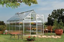 polykarbonátový skleník Palram multiline 6x10 + ZDARMA základna skleníku + ZDARMA strunová sekačka Fieldmann FZS 2000-E + prodloužená ZÁRUKA 10 LET
