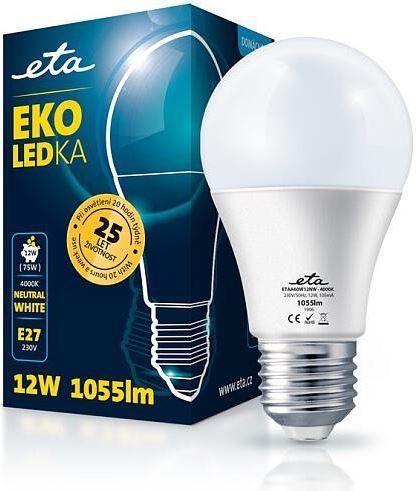 Žárovka LED ETA EKO LEDka klasik 12W, E27, neutrální bílá - ETAA60W12NW